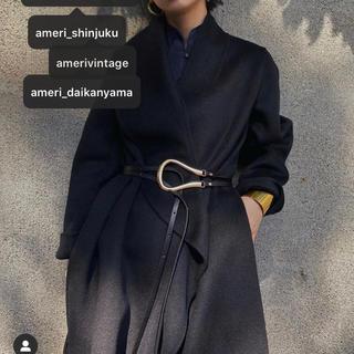 Ameri VINTAGE - 【23日水曜発送】Black×Gold 馬蹄 U型 バックルベルト