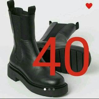 エイチアンドエム(H&M)の40新品エイチアンドエム h&m VERY掲載 ハイプロファイルチェルシーブーツ(ブーツ)