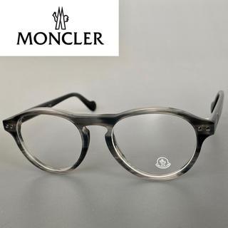MONCLER - MONCLER ML5022 モンクレール グレー メガネ ボストン パント
