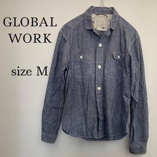グローバルワーク(GLOBAL WORK)のグローバルワーク メンズ ストライプシャツ(シャツ)