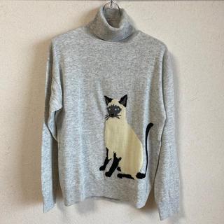 AG by aquagirl - 【美品】AG by aquagirl タートルネックセーター 猫 Mサイズ