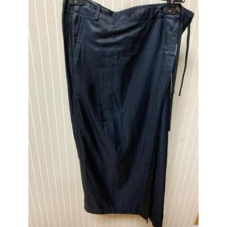 ドリスヴァンノッテン(DRIES VAN NOTEN)のエプロン風巻きスカート 38黒美品(ロングスカート)