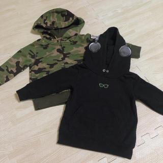 ロデオクラウンズ(RODEO CROWNS)の90 子供服 パーカー トレーナー 2点セット(ジャケット/上着)