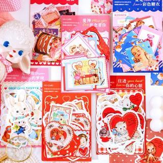 S07 海外 ステッカー 全6種 まとめ売り レトロ アニマル 動物 シール(シール)