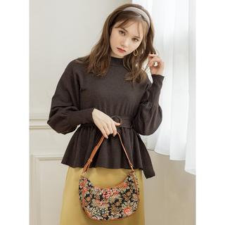 GRL - GRL 配色ライン入フェザースリーブケーブルニット ネイビー 韓国ファッション
