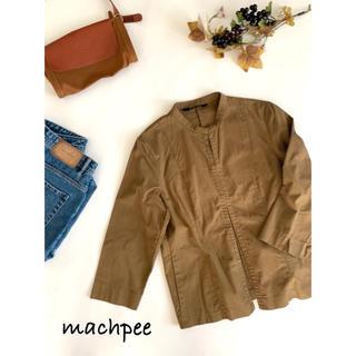 トゥモローランド(TOMORROWLAND)の【MACPHEE】七分袖マオカラー綿ジャケット(ノーカラージャケット)