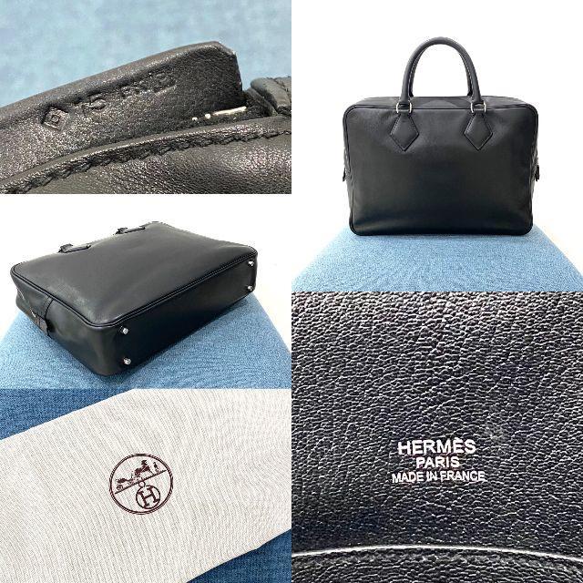 Hermes(エルメス)の美品 HERMES エルメス プリュムドッグ 38 ビジネスバッグ 黒 メンズのバッグ(ビジネスバッグ)の商品写真