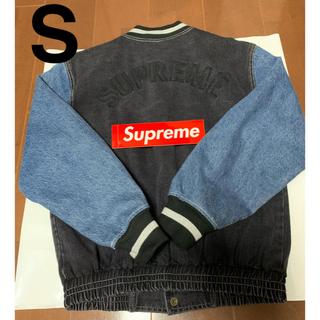 Supreme - Denim Varsity Jacket【S】