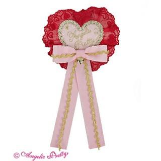 アンジェリックプリティー(Angelic Pretty)のAngelic Pretty Deco Heart ロゼッタブローチ(ブローチ/コサージュ)