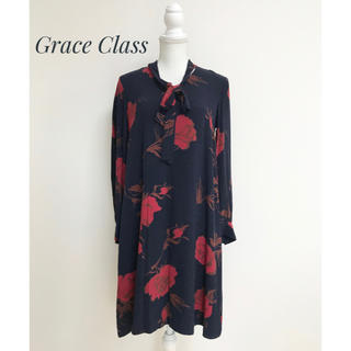 GRACE CONTINENTAL - Grace Class  グレースクラス ローズ柄 花柄 ワンピース 長袖