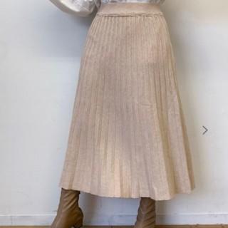 アンティローザ(Auntie Rosa)の【新品未使用】VANNIE U ニットプリーツスカート(ロングスカート)