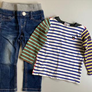 DOUBLE.B - ダブルビーボーダーTシャツ&Gパンセット