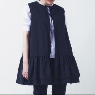 Drawer - YORI 19SS ダブルフレアジレ 黒 美品 ヨリ