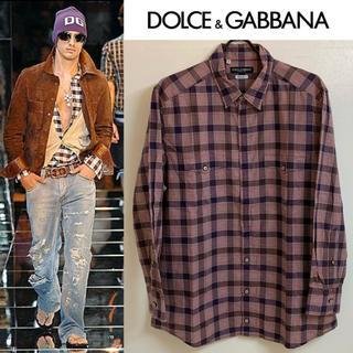 ドルチェアンドガッバーナ(DOLCE&GABBANA)のDOLCE&GABBANA ドルチェ&ガッバーナ ITALY製 チェックシャツ(シャツ)