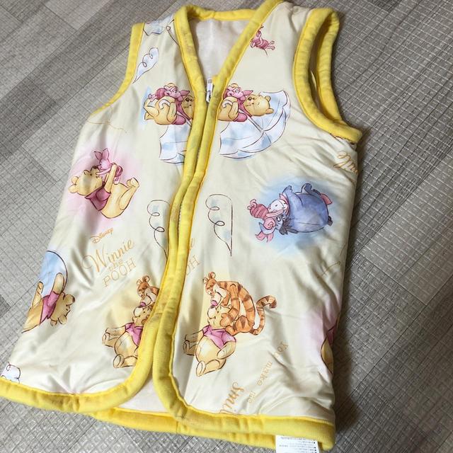 Disney(ディズニー)のプーさん スリーパー キッズ/ベビー/マタニティのベビー服(~85cm)(パジャマ)の商品写真