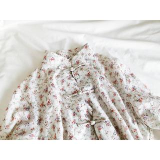 Lochie - vintage 花柄 チャイナブラウス