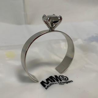 エムエムシックス(MM6)の新品未使用!MM6 マルジェラ 宝石装飾シルバーブレスレット(M)(ブレスレット/バングル)