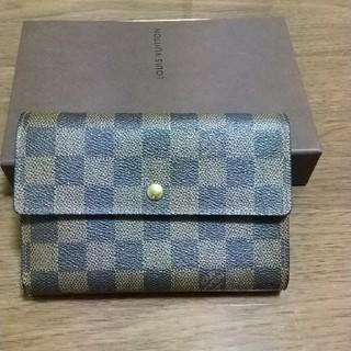 ルイヴィトン(LOUIS VUITTON)のルイヴィトン ダミエ 三つ折り財布(財布)
