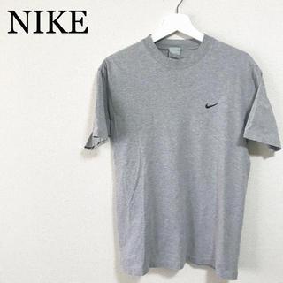 ナイキ(NIKE)のNIKE Tシャツ グレー メンズM 刺繍ロゴ ワンポイントロゴ 古着(Tシャツ/カットソー(半袖/袖なし))