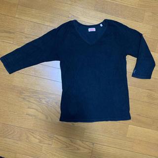 ロンハーマン(Ron Herman)のハリランの黒ロンT、七分袖(Tシャツ/カットソー(七分/長袖))