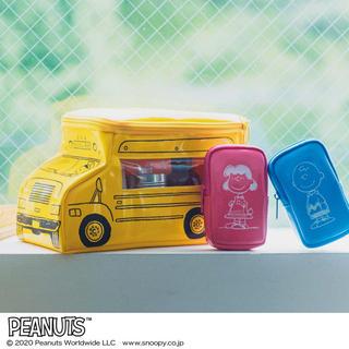 SNOOPY [スヌーピー] バス形収納ポーチ& ミニポーチ 3個セット