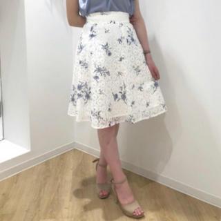 ミッシュマッシュ(MISCH MASCH)のフラワーレーススカート♡(ひざ丈スカート)