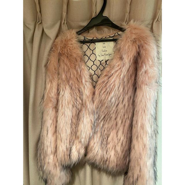 SeaRoomlynn(シールームリン)のボリュームECOファーコート ダスティーピンク レディースのジャケット/アウター(毛皮/ファーコート)の商品写真