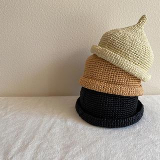 handmade ハンドメイド どんぐり帽子 ベレー帽 麦わら帽子  小人帽子