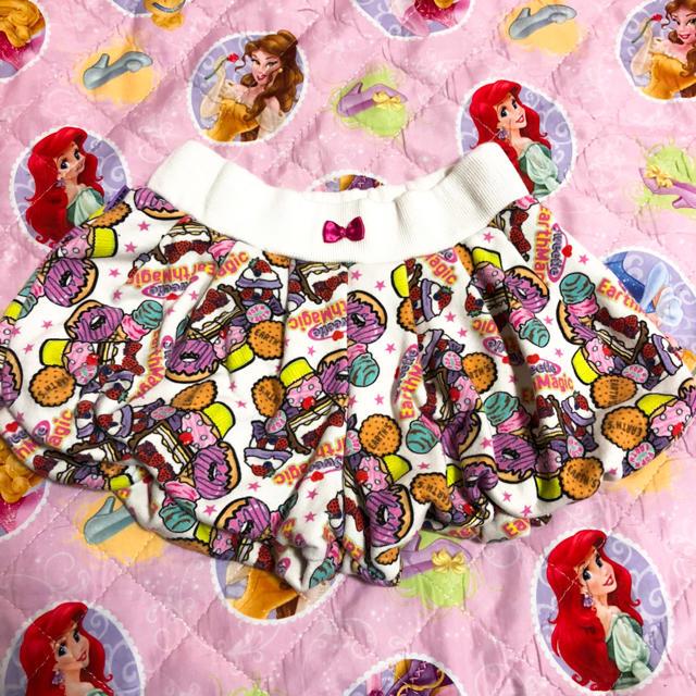 EARTHMAGIC(アースマジック)のアースマジック  スイーツ柄 ショートパンツ 130 キッズ/ベビー/マタニティのキッズ服女の子用(90cm~)(パンツ/スパッツ)の商品写真
