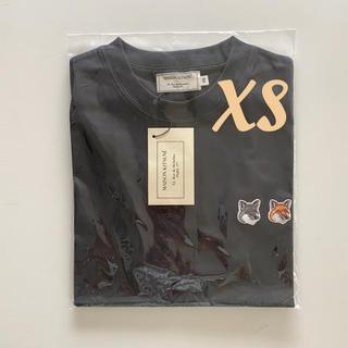 MAISON KITSUNE' - 【おまけ付!即日発送】メゾンキツネ Tシャツ ダブルフォックス ブラックXS