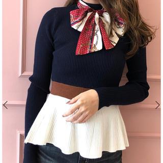 eimy istoire - エイミーイストワール♡スカーフ付きペプラムニットプルオーバー