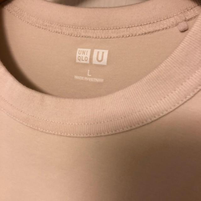 UNIQLO(ユニクロ)の今季ユニクロUのTシャツ ベージュL レディースのトップス(Tシャツ(半袖/袖なし))の商品写真