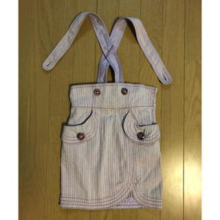 アナスイミニ(ANNA SUI mini)の美品 ANNA SUI mini  デニム ジャンパースカート 120(スカート)