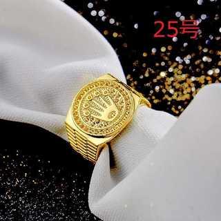ブリンブリン ヒップホップ ロック 王冠 リング 指輪 ゴールド 25号(リング(指輪))