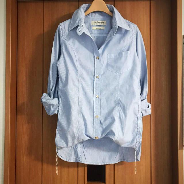 L'Appartement DEUXIEME CLASSE(アパルトモンドゥーズィエムクラス)の30240円美品 アパルトモン別注 レミレリーフ シャツ ワイヤー ストライプ  レディースのトップス(シャツ/ブラウス(長袖/七分))の商品写真