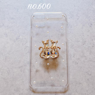 no.600 カップル キャッツ パール iPhone7、iPhone8 ケース
