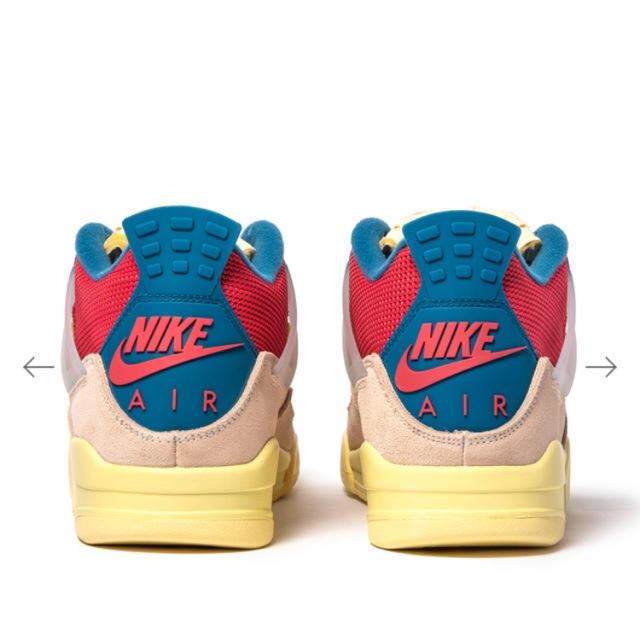"NIKE(ナイキ)のUNION × NIKE AIR JORDAN 4 RETRO ""GUAVA"" メンズの靴/シューズ(スニーカー)の商品写真"