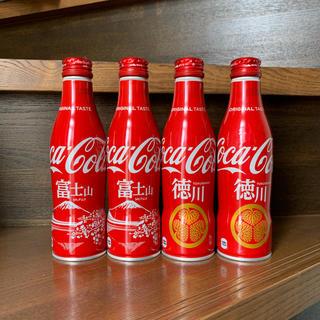 コカコーラ(コカ・コーラ)のコカ・コーラ スリムボトル 地域限定ボトル 富士山・徳川デザイン ご当地ボトル(ノベルティグッズ)