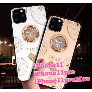 新品★iPhone11ProMax リング付き 時計柄 iPhoneケース