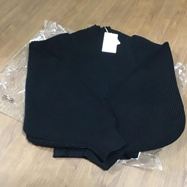 rienda(リエンダ)のrienda Low Gauge SLV Knit TOP タグ付き リエンダ レディースのトップス(ニット/セーター)の商品写真