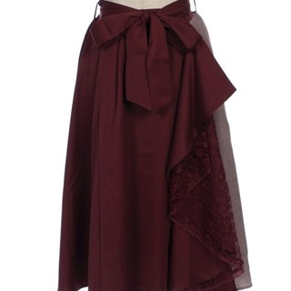 アクシーズファム(axes femme)の新品タグ付 axes femme千鳥無地スカート(ひざ丈スカート)
