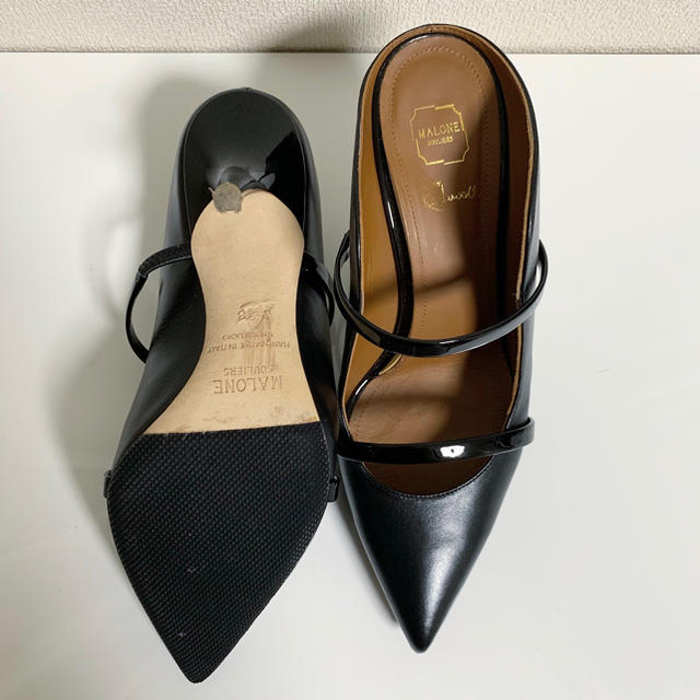 Drawer(ドゥロワー)の値下げ マローンスリアーズ Malone Souliers パンプス 黒 レディースの靴/シューズ(ハイヒール/パンプス)の商品写真