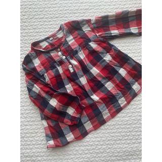 ムジルシリョウヒン(MUJI (無印良品))のチェック柄チュニック(Tシャツ/カットソー)