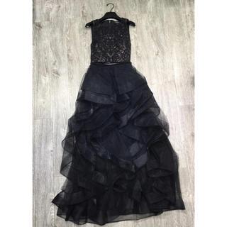 ビーシービージーマックスアズリア(BCBGMAXAZRIA)の❤️BCBG 2020新作 新品 黒上下セット ドレス 綺麗(ロングドレス)
