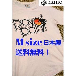 ナノユニバース(nano・universe)のナノ・ユニバース nano・universe Tシャツ ピンク 日本製 M(Tシャツ/カットソー(半袖/袖なし))