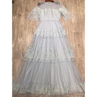 ビーシービージーマックスアズリア(BCBGMAXAZRIA)の❤️BCBG 2020新作 新品 ブルーワンピース ドレス 綺麗(ロングドレス)