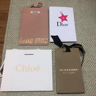 ミュウミュウ(miumiu)のmiumiu Dior Chloe Burberry 紙袋セット(ショップ袋)