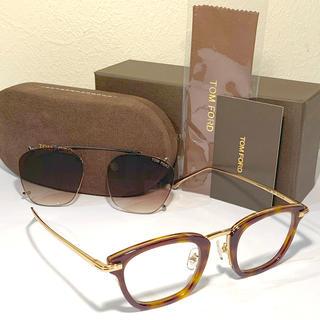 TOM FORD - TOMFORD/トムフォード【TF5496】ブラウンハバナ□クリップ付メガネ眼鏡