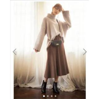 GRL - GRL ベルト付き スエードフレアスカート