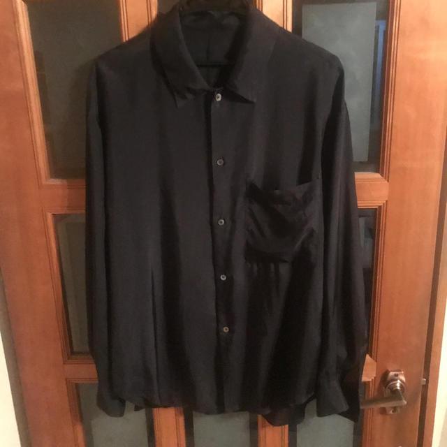 COMOLI(コモリ)のURU キュプラシャツ サイズ2 黒 メンズのトップス(シャツ)の商品写真